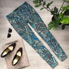 Женские стрейчевые джинсы с принтом